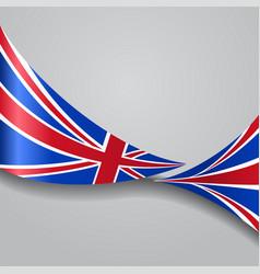united kingdom wavy flag vector image