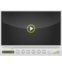 Video movie media player vector