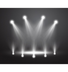 Realistic stage lighting background vector