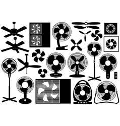 Different Ventilator Set vector image