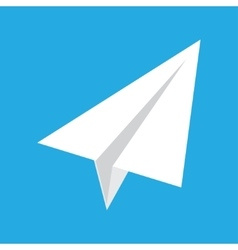 origami paper airplane on blue background vector image
