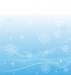 Winter white waves vector