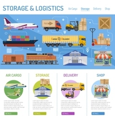 Storage and delivery infographics vector
