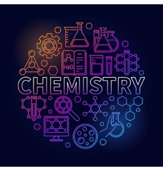Chemistry colorful round vector