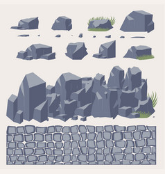 stone wall pavement vector image