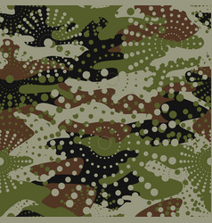 camouflage and halftone pattern background vector image