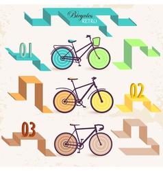 Retro bicycles vector image