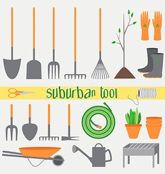 Suburban tools vector