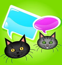 Cats with speech bubbles vector