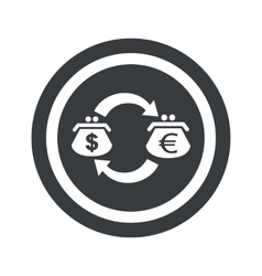 Round black dollar euro sign vector