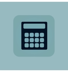 Pale blue calculator icon vector