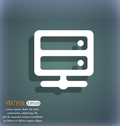 Server icon symbol on the blue-green abstract vector image