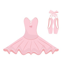 Ballet dress and pointes vector