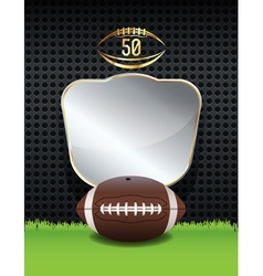 American football background template vector