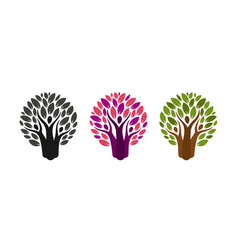 abstract tree and people logo ecology vector image vector image