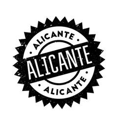 Alicante rubber stamp vector