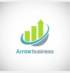 arrow progress business finance logo vector image