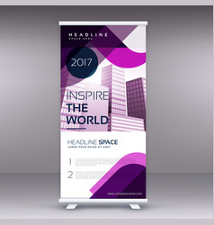 awesome business roll up banner or standee design vector image vector image