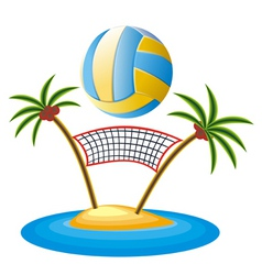 beach volleyball vector image
