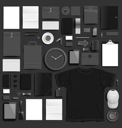 Branding mockup black set vector
