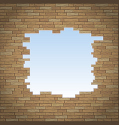 Break in the brick wall vector
