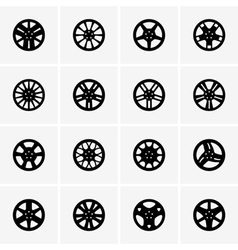 Car rims vector image vector image