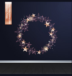 christmas background with christmas wreath of vector image vector image