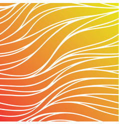 color seamless wave background orange abstract vector image vector image