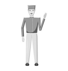 Doorman icon gray monochrome style vector