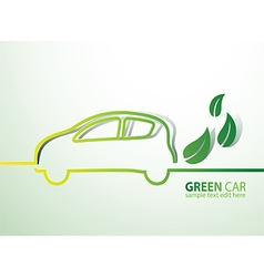 Eco car vector