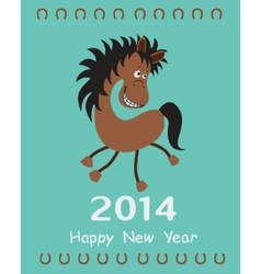 Greeting card with a Horse vector image