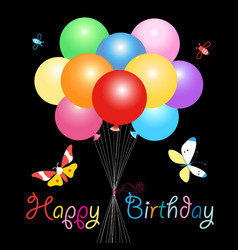 Greeting card with colorful balloons vector