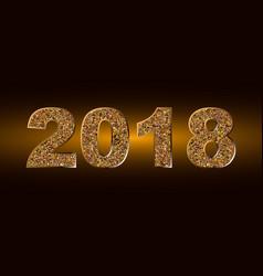 Happy new year 2018 backgroundtypographic vector