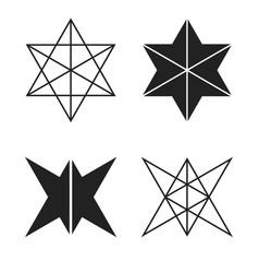 Hexagons stock vector