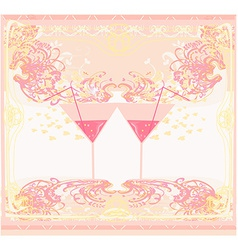 Invitation To Birthday Cocktail Party vector image vector image
