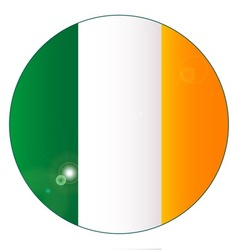 Irish flag button vector