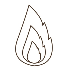 Isolated silhouette flame design vector