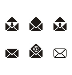 Mail envelope icons vector