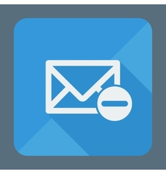 Mail icon envelope with minus sign flat design vector