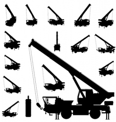mobile crane vector image vector image