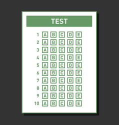 Multiple choice blank nswer sheet vector