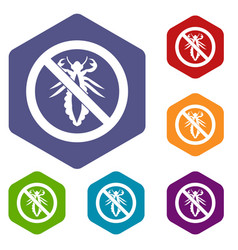 no louse sign icons set vector image vector image