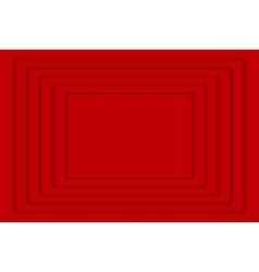 Red concentric 5 rectangle background vector