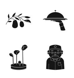 Restaurant nature medicine and other web icon in vector