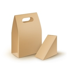 Set of cardboard handle packaging for sandwich vector