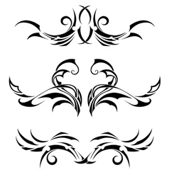 Set tribal tattoos vector