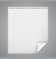 sheet of paper with a bent corner vector image vector image