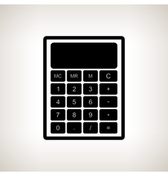 Silhouette calculator on a light background vector
