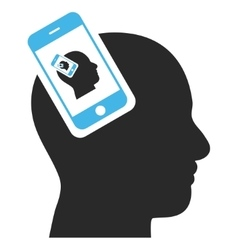 Smartphone head plugin recursion eps icon vector