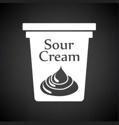 sour cream icon vector image